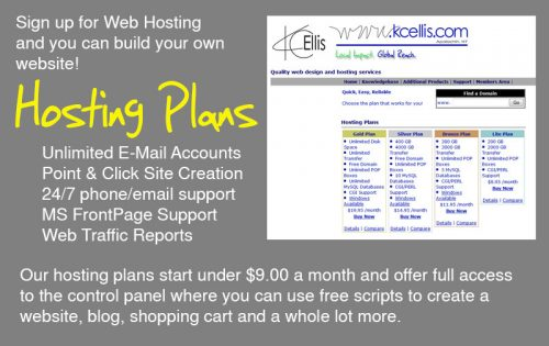 web hosting at KC Ellis